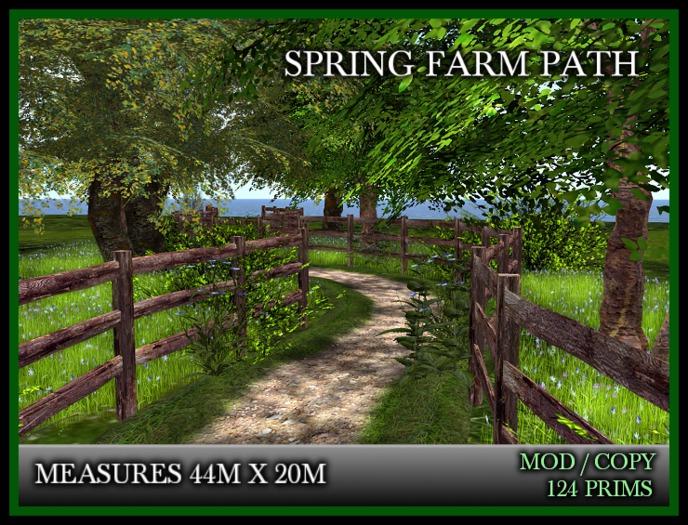 TMG - SPRING FARM PATH with fence