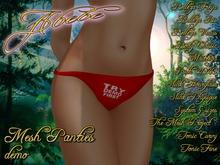 Abebe Mesh Panties Asym Valentine DEMO