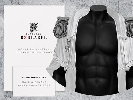 CURELESS REDLABEL / Donatien Manteau / WHITE / fits GIANNI, GERALT, JAKE, MAITREYA, HOURGLASS and more!
