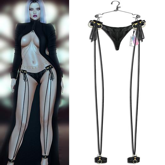 "Elegance Boutique - "" Ava"" - Panties - Black - KUPRA / Legacy / Maitreya & Petite / Slink / Belleza"