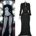 V dress black