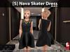 [S] Nava Skater Dress Black