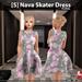 [S] Nava Skater Dress Floral
