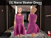 [S] Nava Skater Dress Pink