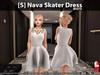 s  nava skater dress white pic