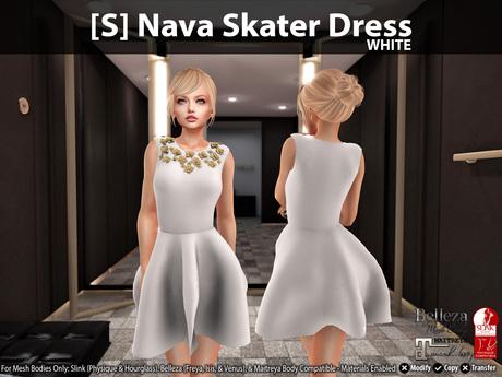 [S] Nava Skater Dress White