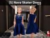 [S] Nava Skater Dress Blue