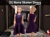 [S] Nava Skater Dress Purple