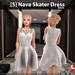 s  nava skater dress white ad