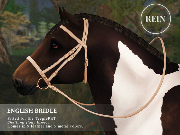 REIN - TeeglePet English Bridle SHETLAND PONY