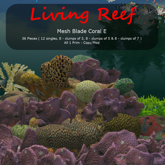 Inochi Reef - Mesh Blade Coral E