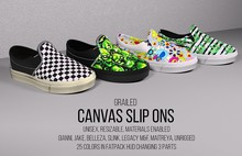 [G] Canvas Slip-Ons FATPACK