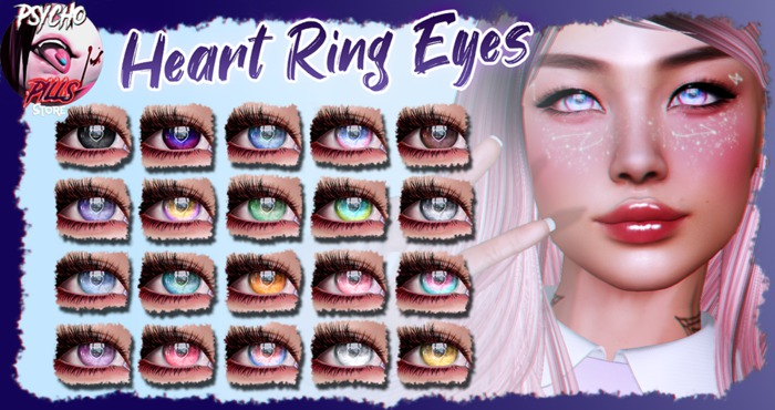 .:PP:. - Heart Ring Eyeset For Genus and Catwa (WEAR ME!)
