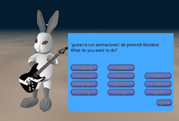 guitar with animation