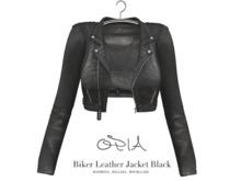 OPIA Biker Leather Jacket Black
