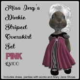 Miss Ing's Dinkie Striped Overskirt Pink