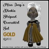 Miss Ing's Dinkie Striped Overskirt Gold