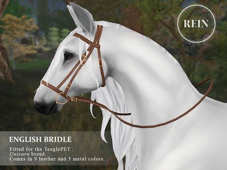 REIN - TeeglePet English Bridle UNICORN