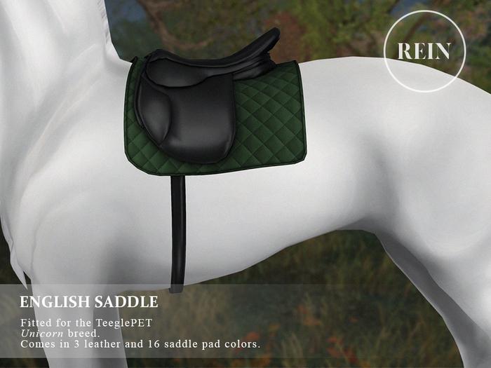 REIN - TeeglePet English Saddle UNICORN