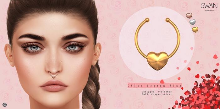 Swan Chloe Septum Ring