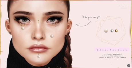 Swan Juliana Face Jewels