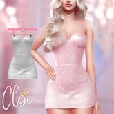 #Cloe - Glitter Glam Dress - White