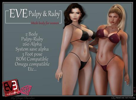 *!* EVE Pulpy  // mesh body \\ BENTO -& Ruby BOM