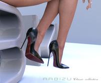 A R B I Z U Classic Stiletto -BLACK   Promo Price!