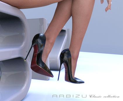 A R B I Z U Classic Stiletto -BLACK- _DEMO_