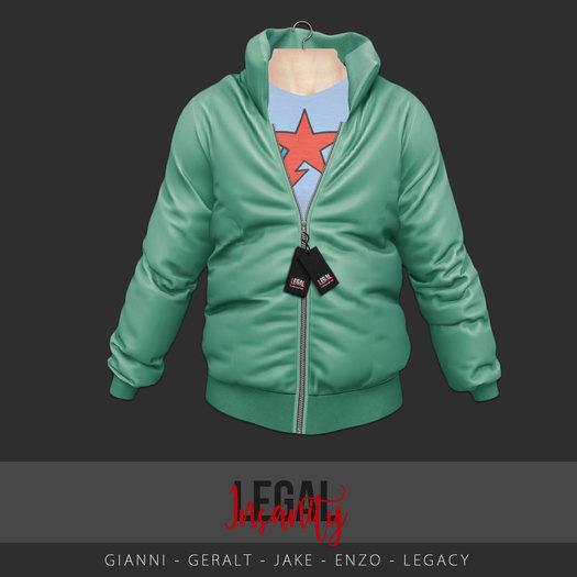 Legal Insanity - Evan puffer jacket teal