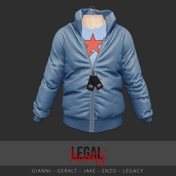 Legal Insanity - Evan puffer jacket sky