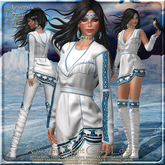 {AS} Nakooma Spirit Guide Fitted Mesh Outfit: White Buffalo; Native American, Maitreya, Hourglass, Physique, Omega, BOM