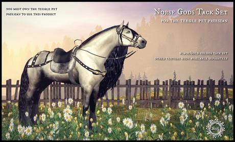 Jinx : Norse Gods Tack Set for Friesian Teegle Pet