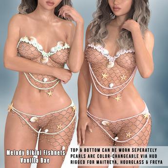 * Vanilla Bae * Melody Seashells Fishnet Only Fat Pack ~ Maitreya, Freya, Hourglass