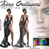 *XO* High slit cup Latexgown