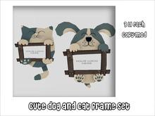 >Cute dog and cat frame set
