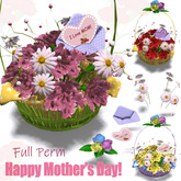 [ FULL PERM ] Flower Basket / Happy Mother's Day