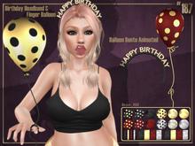 #187# Birthday Headband & Finger Balloon
