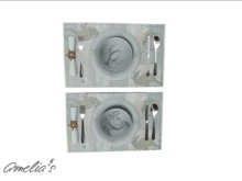 Amelia's Coastal Place Setting (Crab/Lobster) Boxed