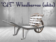 """CdT"" Wheelbarrow (white)"