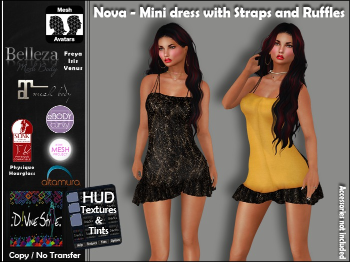 :: D!vine Style :: Nova - Mini dress with Straps and Ruffles