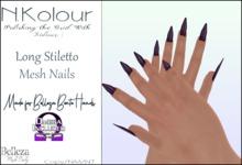 N.Kolour: Belleza Long Stiletto Bento Nails - Omega