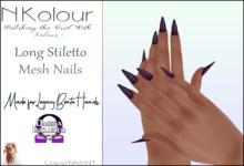 N.Kolour: Legacy Long Stiletto Bento Nails - Omega