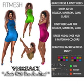 VERSACI - GRACE DRESS & CINDY HEELS - MESH BODY & CLASSIC