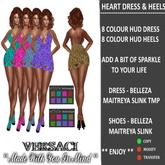 VERSACI - HEART DRESS & HEELS - MESH BODIES