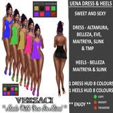 VERSACI - UENA DRESS & HEELS - MESH BODIES