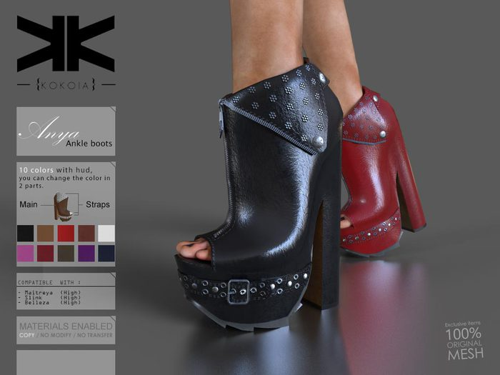 Anya :: Ankle Boots :: 10 Colors :: {kokoia}