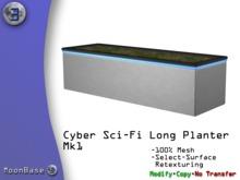 [MB3] Cyber Sci-Fi Long Planter Mk1