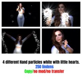 White Hand particles with floater