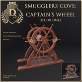 [Ds] SMUGGLERS COVE Captains Wheel DECOR